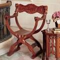 Design Toscano Medieval Cross Frame Arm Chair