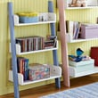 TMS Children's 3-Tier 36'' Bookcase; Blue and White