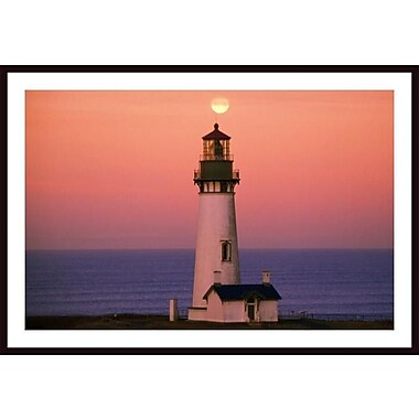 Printfinders 'Sunset over Lighthouse' by Craig Tuttle Framed Photographic Print