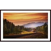 Printfinders 'An Oncoming Train' by Kelly Redinger Framed Photographic Print