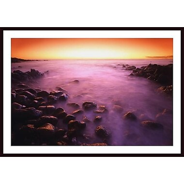 Printfinders 'Sunset over Water, Hawaii, Usa' by Don Hammond Framed Photographic Print