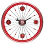 Maples Clock 16'' Bike Wall Clock; Red