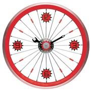 Maples Clock 16'' Bike Wall Clock; Red