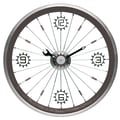 Maples Clock 16'' Bike Wall Clock; Black