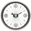 Maples Clock 16'' Bike Wall Clock; Black