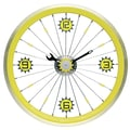 Maples Clock 16'' Bike Wall Clock; Yellow
