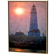 Menaul Fine Art Boston Light Limited Edition by Scott J. Menaul Framed Photographic Print; 28 x 22