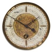 Uttermost Leonardo 18'' Script Weathered Wall Clock; Cream