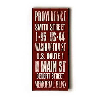 Artehouse LLC Providence Transit by Cory Steffen Textual Art Plaque