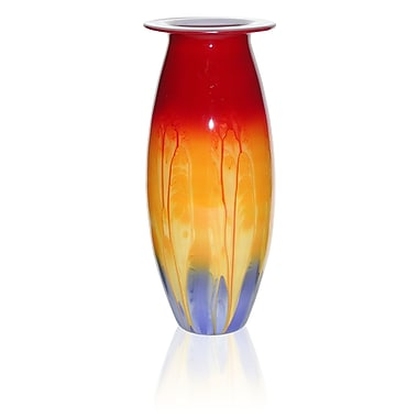 Womar Glass Hand Painted Glass 1950 Retro Series Vase