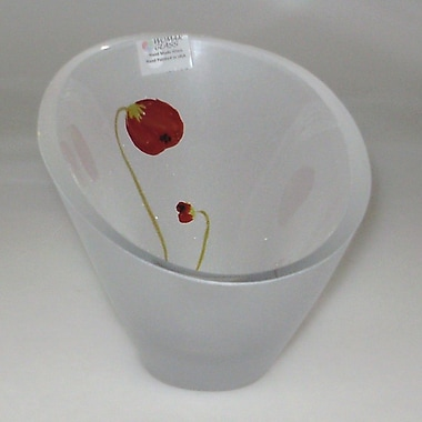 Womar Glass Poppy Flower Series Candle Holder Vase
