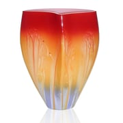 Womar Glass Hand Painted Glass 1950 Retro Series Vase; 10'' H x 8'' W x 6'' D