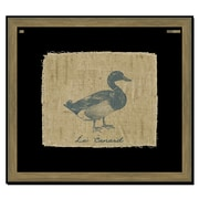 Melissa Van Hise Duck on Linen I Framed Graphic Art; Navy