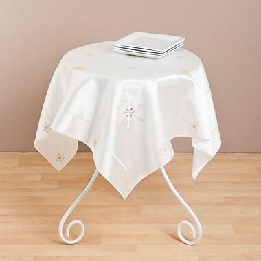 Saro Embroidered Snowflake Table Topper
