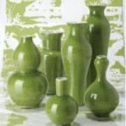 Tozai Au Courant 6 Piece Vase Set; Acid Green