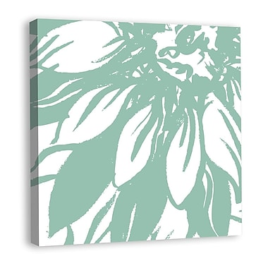 Melissa Van Hise Bloomy Burst I Graphic Art on Wrapped Canvas; Green