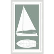 Melissa Van Hise Sail Boat II Framed Graphic Art; Silver Sage