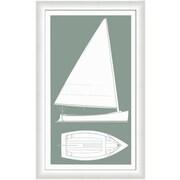 Melissa Van Hise Sail Boat I Framed Graphic Art; Silver Sage