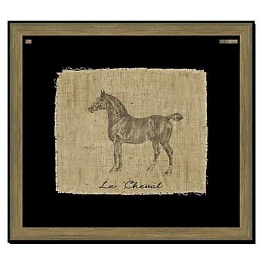 Melissa Van Hise Horse II Framed Graphic Art; Black