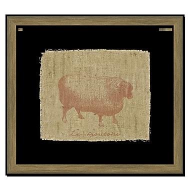 Melissa Van Hise Sheep I Framed Graphic Art; Sienna