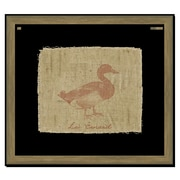 Melissa Van Hise Duck on Linen I Framed Graphic Art; Sienna