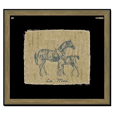 Melissa Van Hise Horse I Framed Graphic Art; Navy