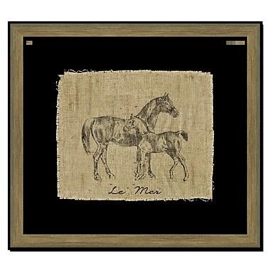 Melissa Van Hise Horse I Framed Graphic Art; Black