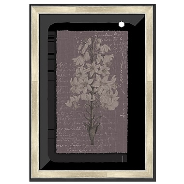 Melissa Van Hise Floral Stems w/ Writing II Framed Graphic Art; Lavender