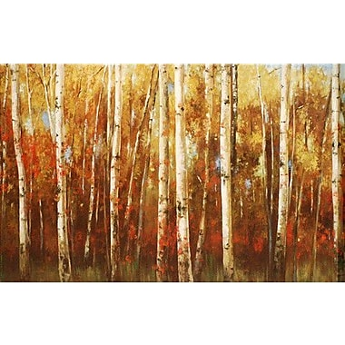 North American Art Birch Forest by Ella K Painting Print on Wrapped Canvas