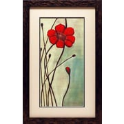 North American Art Eclat Rouge by Ella Codo Framed Painting Print