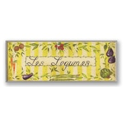 Stupell Industries Oversized Yellow Les Legumes Kitchen Wall Plaque