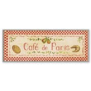 Stupell Industries Oversized Cafe de Paris with Red Kitchen Wall Plaque