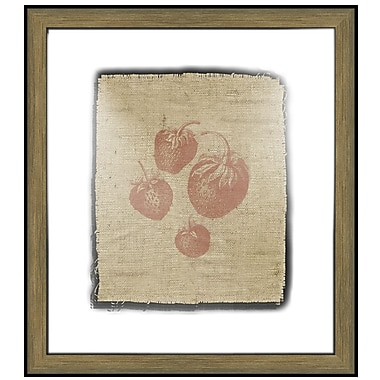 Melissa Van Hise Strawberries Framed Graphic Art; Sienna