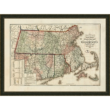 Melissa Van Hise Massachusetts Framed Graphic Art