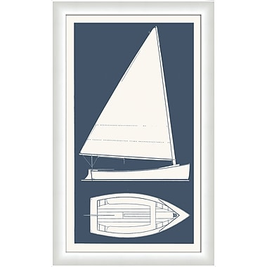 Melissa Van Hise Sail Boat I Framed Graphic Art; Bay Blue