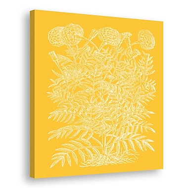 Melissa Van Hise Floral Impression IV Graphic Art on Wrapped Canvas; Daffodil