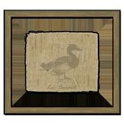 Melissa Van Hise Duck on Linen I Framed Graphic Art; Taupe