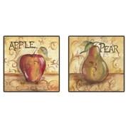 PTM Images Kitchen Fruit Framed Canvas Art (Set of 2)
