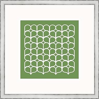 Melissa Van Hise Green Geometrics lV Framed Graphic Art