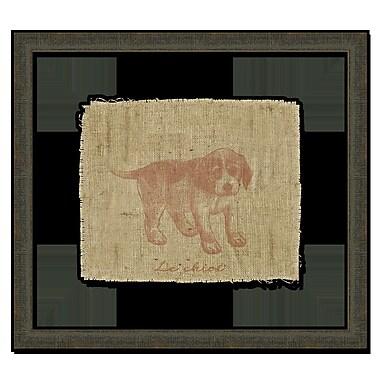 Melissa Van Hise Dog on Linen I Framed Graphic Art; Sienna