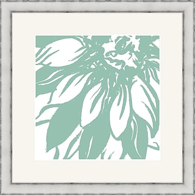 Melissa Van Hise Bloomy Burst I Framed Graphic Art; Green