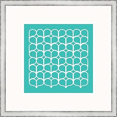 Melissa Van Hise Aqua Geometrics lV Framed Graphic Art