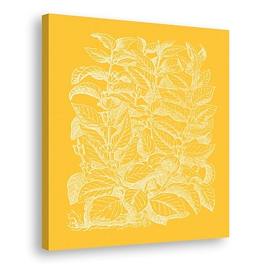 Melissa Van Hise Floral Impression II Graphic Art on Wrapped Canvas; Daffodil