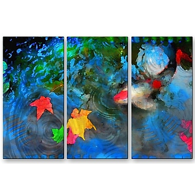 All My Walls 'After the Storm' by Gina Signore 3 Piece Painting Print Plaque Set