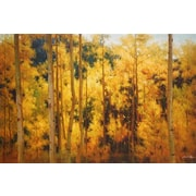 North American Art 'Autumn Radiance' by Robert Barnes Painting Print on Wrapped Canvas