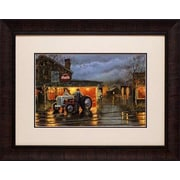 North American Art 'Shop Talk' by Dave Barnhouse Framed Painting Print