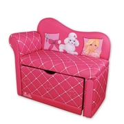 Najarian Furniture Barbie Glam Storage Kid's Chaise Lounge