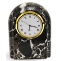 Nature Home Decor Wall Clock; Black Zebra Marble