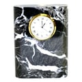 Nature Home Decor Marble Clock; Black Zebra Marble