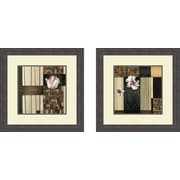 PTM Images Contemporary Blossoms 2 Piece Framed Painting Print Set